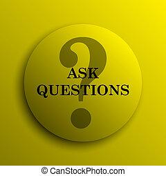 perguntar, perguntas, ícone
