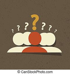perguntas, grupo