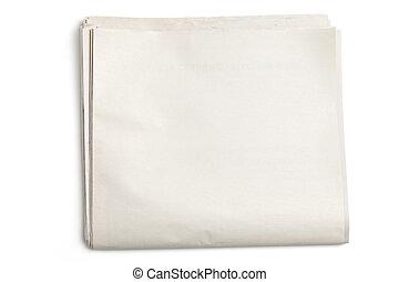 periódico, blanco
