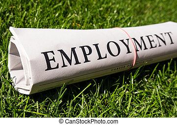 periódico, empleo