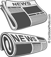 periódico rodado, vector