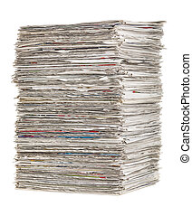 periódicos, blanco, Plano de fondo, Pila