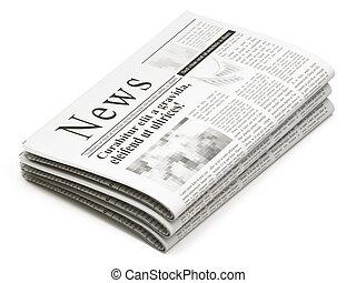 periódicos, pila