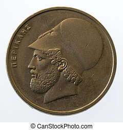 Pericles, ancient Greek leader and statesman, on 20 drachmas...