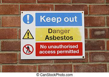 pericolo, asbestos.