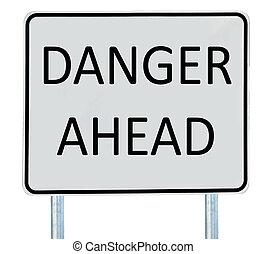 pericolo, avanti, segno strada