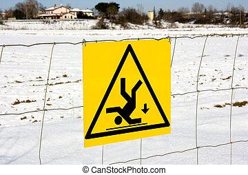 pericolo, cadere