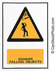 pericolo, Cadere, oggetti, segno