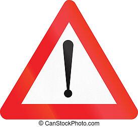 pericolo, -, generale, simbolo di avvertenza, strada, belga