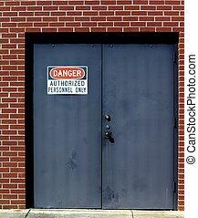 pericolo, porta, segno