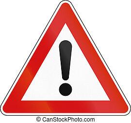 pericolo, sloveno, -, segno, avvertimento, altro, strada