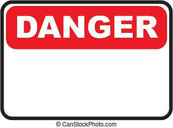 pericolo, testo, spazio, segno