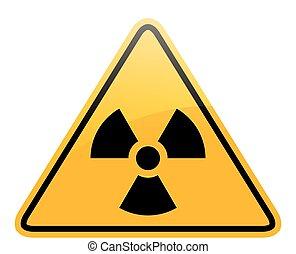 pericolo, vettore, radiazione, segno
