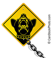 pericoloso, cane protezione
