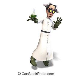 pericoloso, scienziato, pazzo, fluido