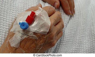 periferisk, kanyl, tålmodig, intravenös, iv