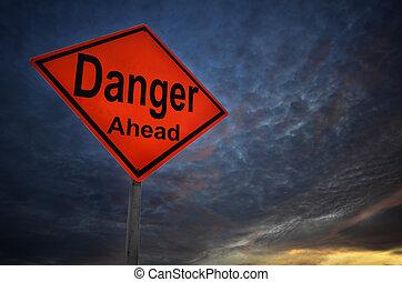 perigo, aviso, sinal estrada