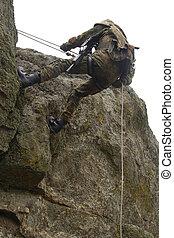 perigosa, militar, alpinism