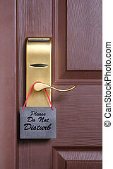 perilla, turbar, puerta, habitación, colgado, petición, ...