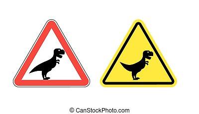 period., attention, fâché, dépenser, danger, dinosaur., prudent, tyrannosaurus., signe., effrayant, jurassique, t-rex, prédateur