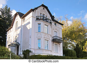 Period of promotion style house in residential area in Wiesbaden, Hesse, Germany