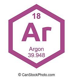 Periodic table Argon