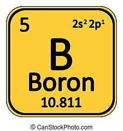 Periodic table element boron icon. - Periodic table element ...