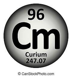 Periodic table element curium icon. - Periodic table element...