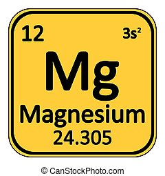 Chemical element magnesium from the periodic table symbol of periodic table element magnesium icon urtaz Image collections