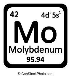 Periodic table element molybdenum icon. - Periodic table...