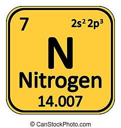 Periodic table element nitrogen icon. - Periodic table...