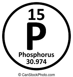 Periodic table element phosphorus icon. - Periodic table ...