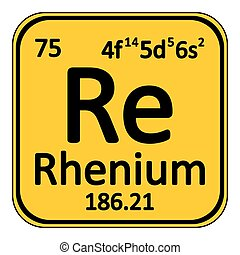 Periodic table element rhenium icon. - Periodic table...