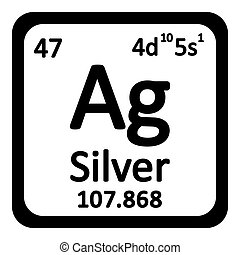 Silver element periodic table isolated on white background stock periodic table element silver icon urtaz Choice Image