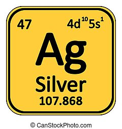 Chemical element silver from the periodic table symbol of eps periodic table element silver icon urtaz Choice Image