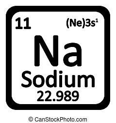 Chemical element sodium from the periodic table symbol of chemical periodic table element sodium icon urtaz Images