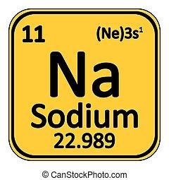 Chemical element sodium from the periodic table symbol of vector periodic table element sodium icon urtaz Choice Image