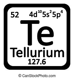 Tellurium te chemical element periodic table 3d render periodic table element tellurium icon urtaz Image collections