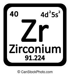 Periodic table element zirconium icon periodic table element periodic table element zirconium icon urtaz Gallery