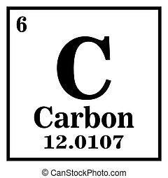 Periodic Table of Elements - Carbon Vector illustration eps 10