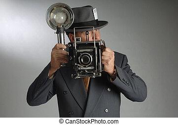 periodista de la foto