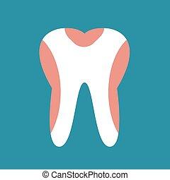 periodontal disease, tand, ikon, vektor, illustration