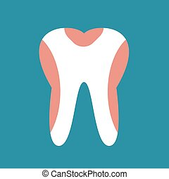 Periodontal disease tooth icon vector illustration. Dental...