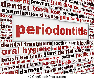 Periodontitis dental disease poster. Dental hygiene message...