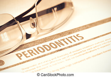 periodontitis., medicine., illustration., 3