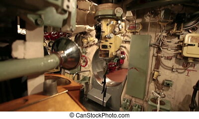 Periscope inside submarine - periscope on main command post...