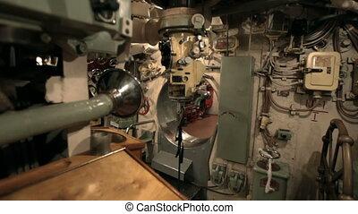 periscope on board the submarine - on board the submarine...