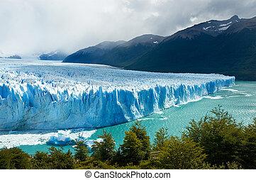 perito, 氷河, argentina., patagonia, moreno
