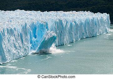 perito, calving, glace, glacier, moreno