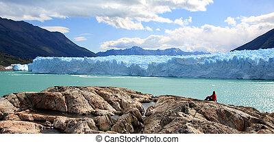 Perito Moreno Glacier, Argentina - A woman looking at Perito...